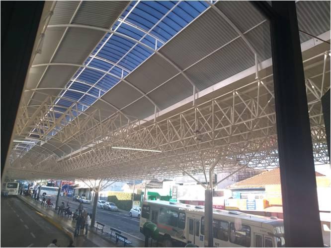Na foto o terminal Ayrton Senna no centro de Franca após a reforma